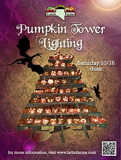 Lattin Farms Pumpkin Tower Lighting 2021