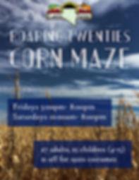 Lattin Farms Corn Maze Flyer