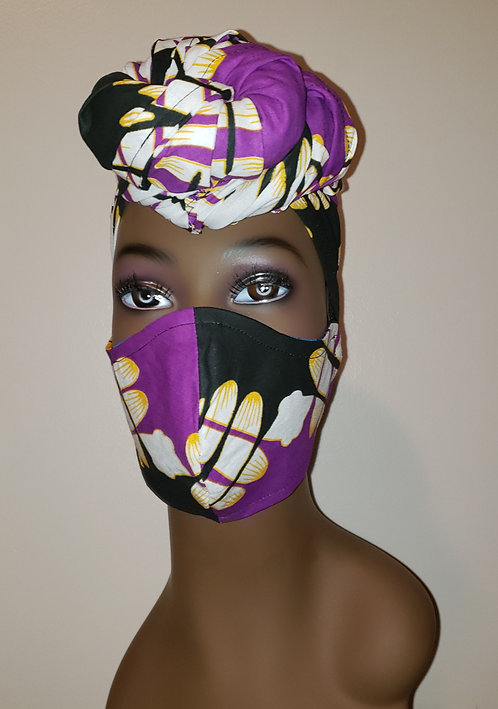 Zuri Turban & Mask Set