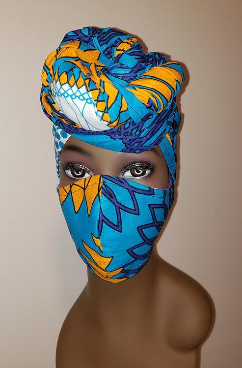 Amani Turban & Mask Set