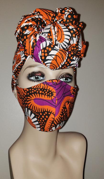 Amare Turban & Mask Set