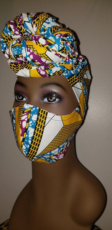 Naomi Turban & Mask Set