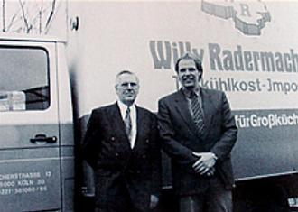 Firmengründer Willy Rademache mit Sohn Jürgen Rademache
