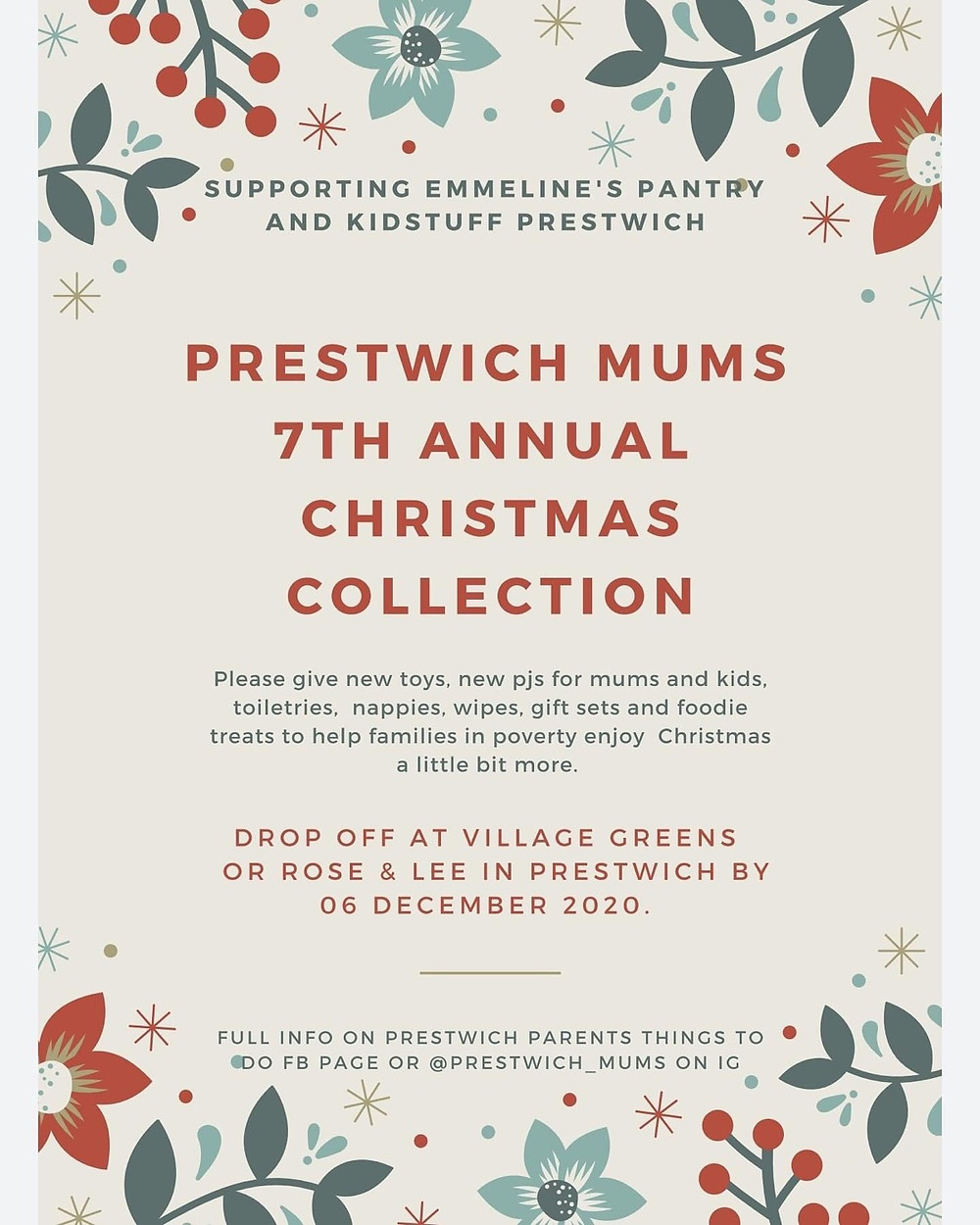 Prestwich Mums Annual Christmas Collection for Charity