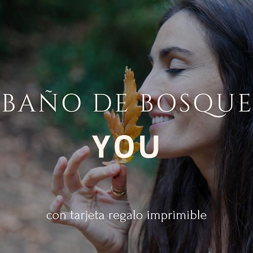 Baño de Bosque YOU (Tarjeta imprimible)