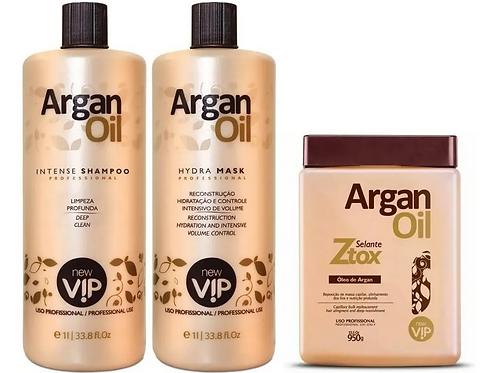 Kit VIP Argan Olie Braziliaans keratine behandeling + Argan Olie Botox 950g