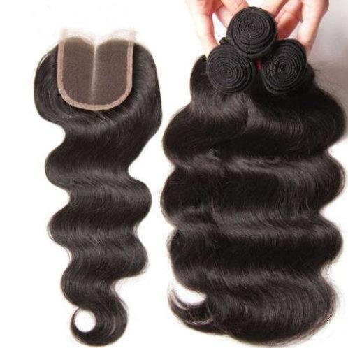 Body Wave Human Hair Bundels 20inch/ 50,8cm + closure