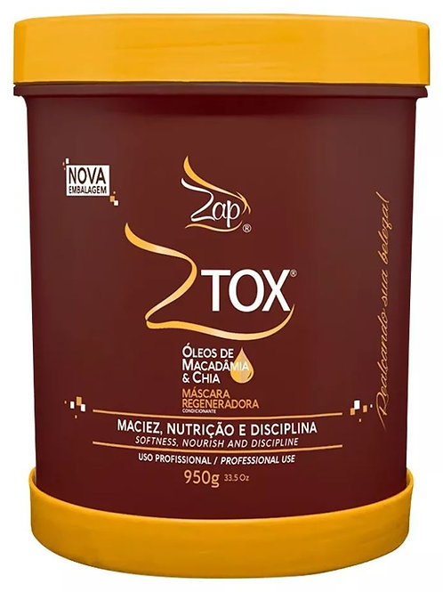 Ztox Macadamia Oil and Chia Mask 950g - Zap na Keratine behandeling