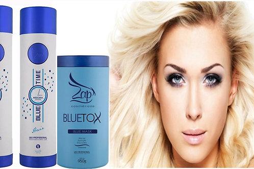 Kit ZAP Blue Time Braziliaans formolvrij keatine behandeling + ZAP Botox Bluetox