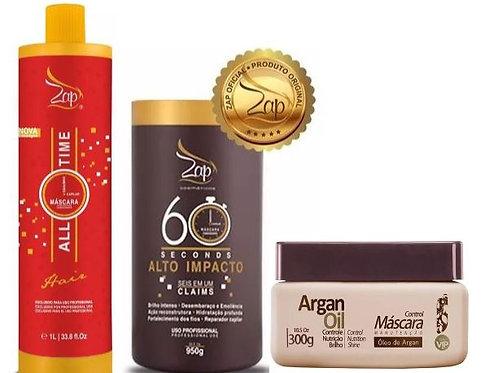 ZAP Me Leva keratine behandeling (All Time) + mascara 60 Seconds 950g+Argan oil