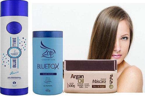 ZAP Blue time shampoo + Haar Botox Bluetox 950g + mascara onderhouden 300g