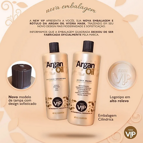 Argan Oil Braziliaans Progressive formol vrij Keratine behandeling 2x1L+Borstel