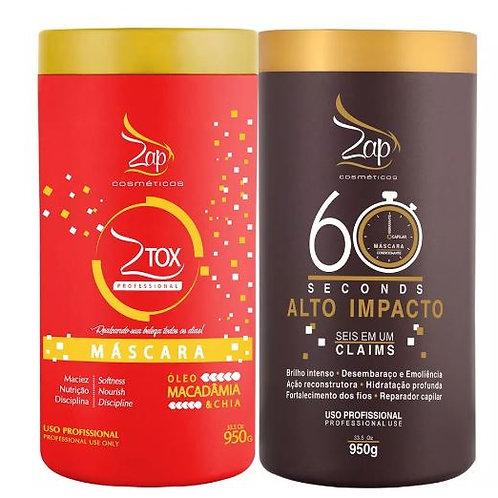 ZAP 60 Seconds High Impact mascara + Ztox Macadamia Oil and Chia Mask 950g - ZAP
