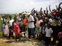 Celebrating Arrival Of New Clean Water Well