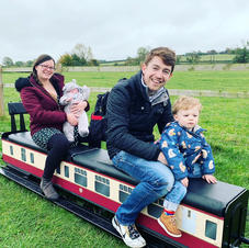 Family going for a ride on the railway