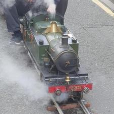 GWR Prairie tank on the portable track