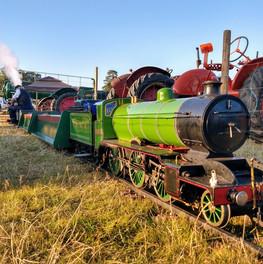Sunny evening at Henham steam rally with