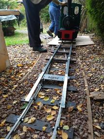 MRW Loading ramp test Fildbhan loco Station road steam