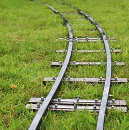 Curved track on the grass