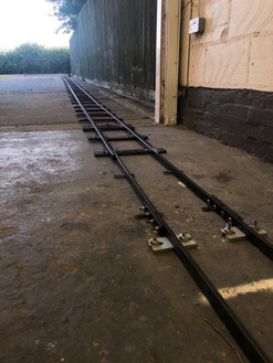Special joining piece to attach MRW jubilee track to fixed railway