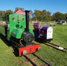 Loco's in the sun ready for pasengers