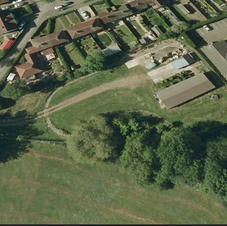 Aerial view of Corby and District Model Railway Society