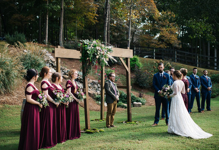 Macedonia Hills. Ceremony outdoors. Barn venue.