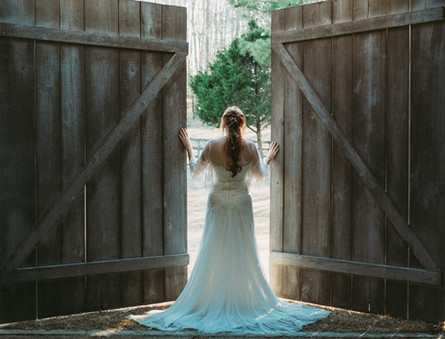 MAcedonia Hills Barn Doors. Weddings and Events. Bride