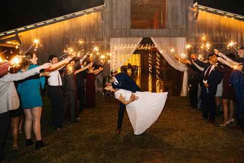 Night time at Macedonia Hills weddings and Events Barn Venue