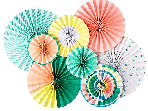 Neon Paper Fans
