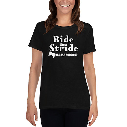 """Ride The Stride"" Women's short sleeve t-shirt"