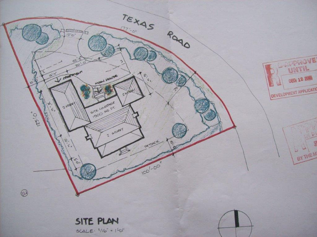Texas Road Lot approved plans2010