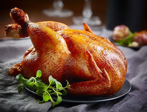 roasted chicken on gray plate.jpg