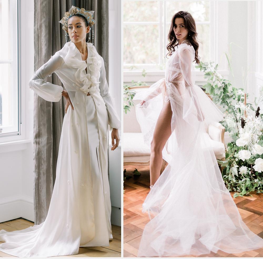 Modern wedding dresses worn by brides in 2021