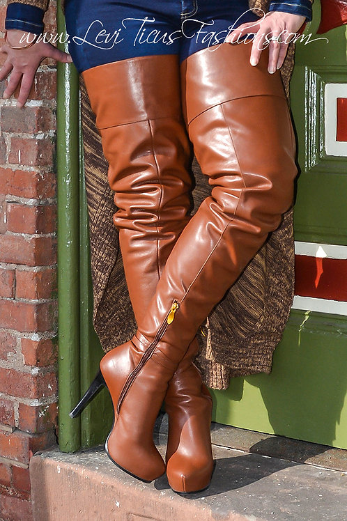 RUSTIC TIMBER LEATHER 2.0 PLATFORM HIGH-RIZE BOOTS