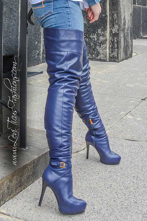 SAPPHIRE LEATHER 2.0 PLATFORM HIGH-RIZE THIGH BOOTS