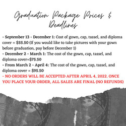 Cap & Gown Information