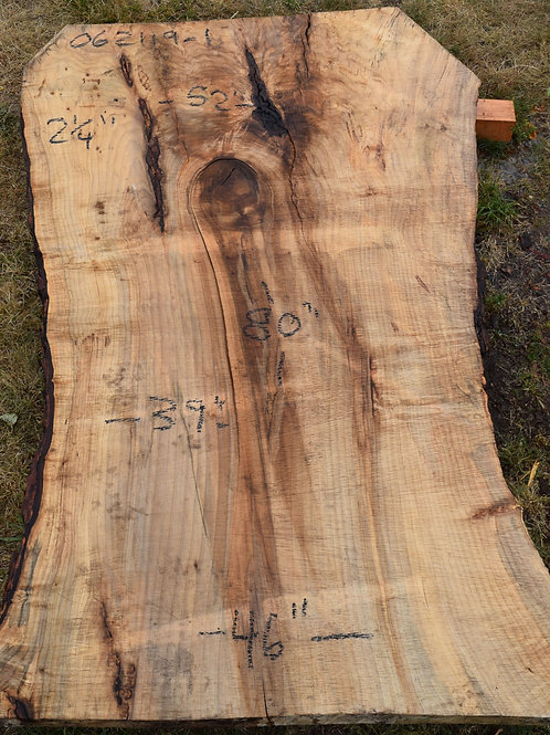 live edge maple slab overview
