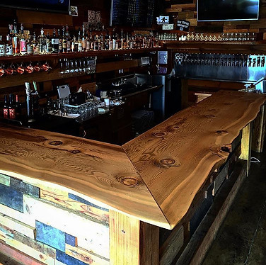 Fir Bar Top for Thirsty Sasquatch