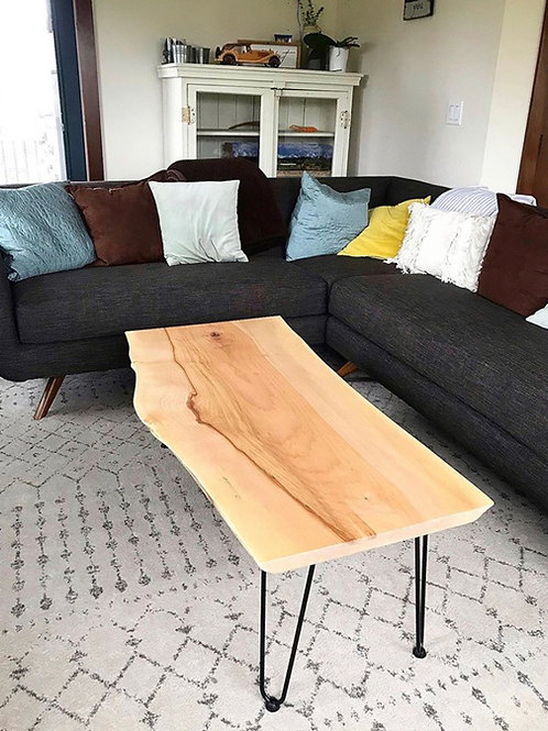 Maple Coffee Table with Hairpin Legs