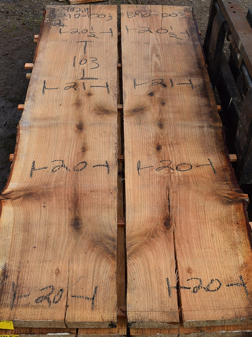 090218-3 Book Match Red Oak