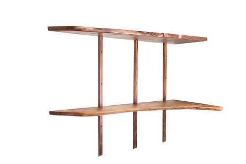 Black Walnut Shelving