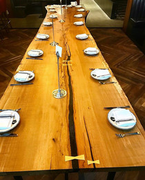 White Oak Slab Table for Jack Rabbit PDX