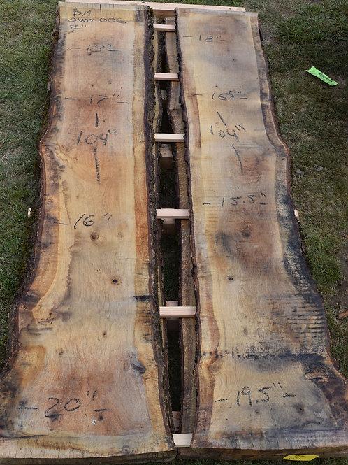OWO006 BM Oregon White Oak Bookmatch Set