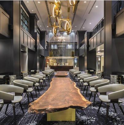 Black Walnut Tables for Hilton Hotel Downtown Portland