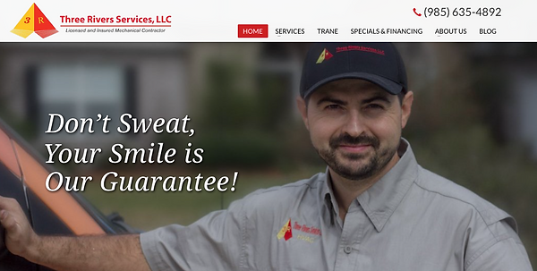Website and branding photos for Three Rivers Services, LLC in Mandeville, Louisiana.
