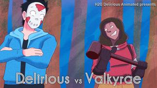 H2ODelirious vs Valkyrae Cartoon Title card