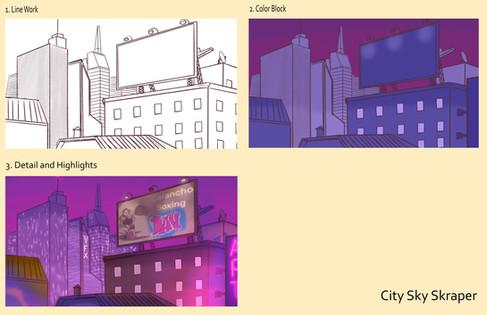 City Sky Skraper 1 - Art Boards