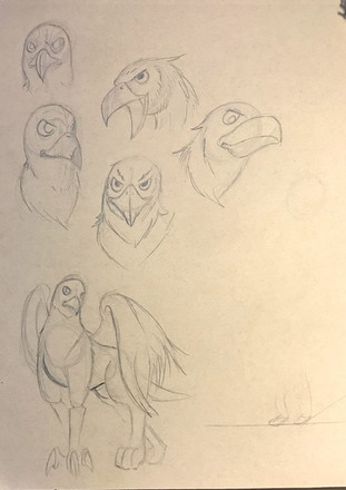 The (Un) Prophecy - Griffin Sketches