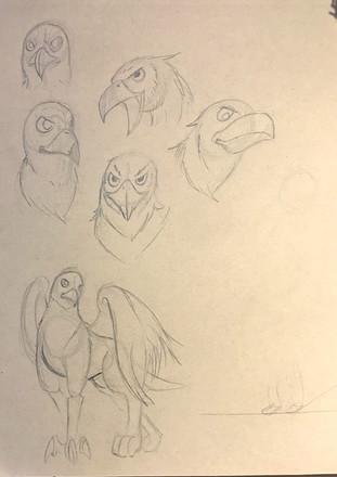 The (Un) Prophecy - Griffin Sketches
